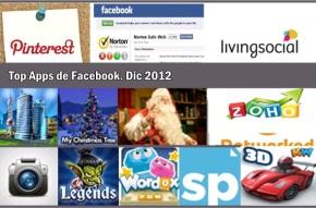 Top Apps para Facebook en 2012.Diciembre
